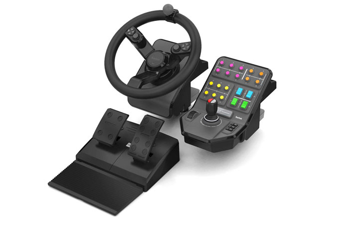 Heavy Equipment Wheel, Pedals and Side Panel Control Deck Bundle for