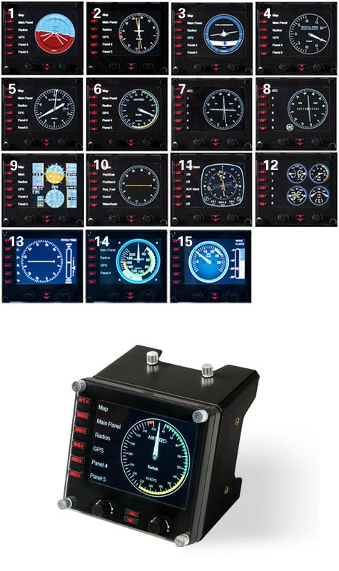Pro Flight™ Instrument Panel for PC | Saitek com