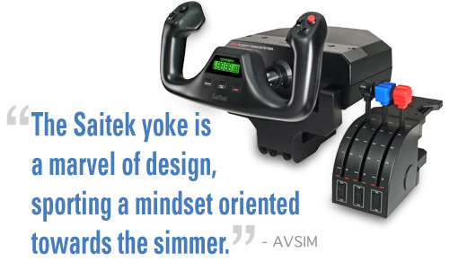Pro Flight™ Yoke for PC and Mac| Saitek com